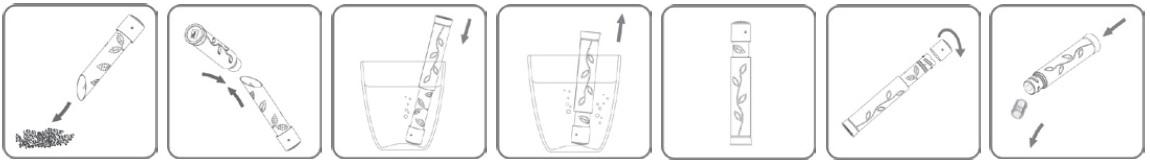 VacuVin Tea Stick B Uitleg